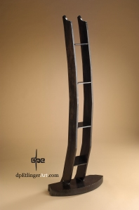 Architect's Podium--Jacob's Ladder-Mild Steel-dpEtlingerArt.com