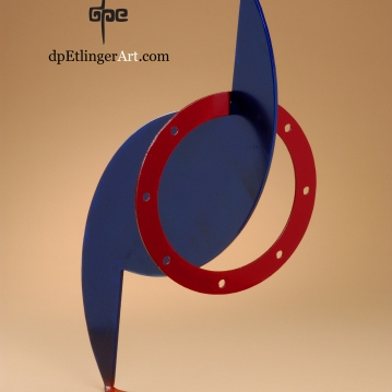 Blue Hurricane-Mild Steel-dpEtlingerArt.com