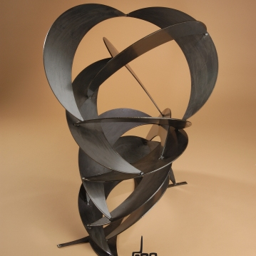 Crescent Wave-Mild Steel-dpEtlingerArt.com