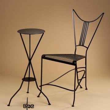 Devil Chair--Satan's Cafe-Mild Steel-dpEtlingerArt.com
