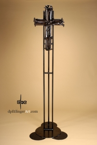 Iron Cross [ii]-Cast Iron, railroad spikes-dpEtlingerArt.com