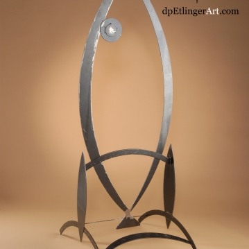 Marooned Fish-Mild Steel-dpEtlingerArt.com