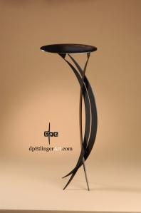 Off-Balance Pedestal-Mild Steel-dpEtlingerArt.com