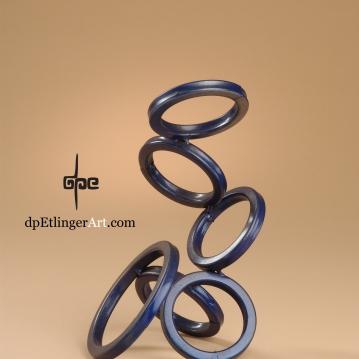 Rising Rings-Mild Steel-dpEtlingerArt.com