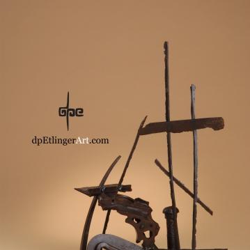 Sails-in-the-Air-Cast Iron, railroad pieces-dpEtlingerArt.com
