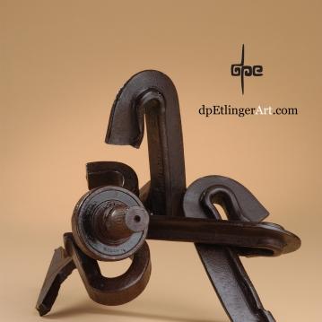Sitting n' Waiting-Cast Iron-railroad pieces-dpEtlingerArt.com