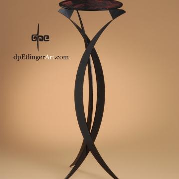 Tripod Pedestal-mild steel-dpEtlingerArt.com