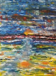 "Kelvin Wake-Oil on Canvas-30""x40""--dpEtlingerArt.com"