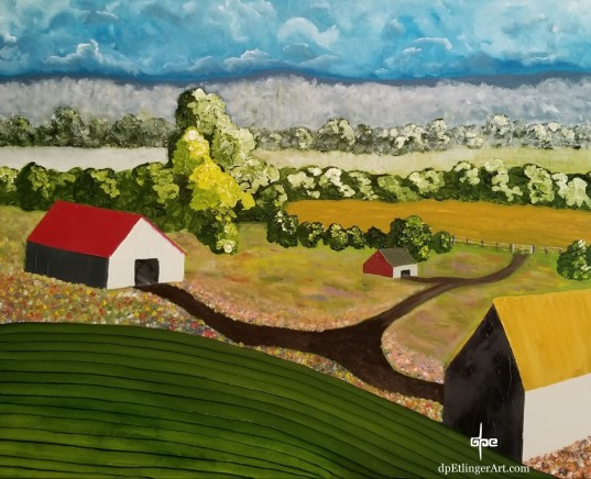 "Time to Sow-Oil on Canvas-24""x30""--dpEtlingerArt.com"
